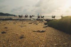 Tappningnärbild på stranden Royaltyfri Bild