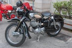 TappningNsu motorcykel Fotografering för Bildbyråer