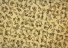 Tappningpapper med abstrakt text Arkivbild