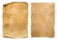 Tappningpappers- eller pergamentark ställde in isolerat på vit fotografering för bildbyråer