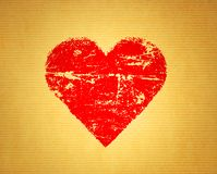 Tappningpapperstextur med abstrakt hjärta vektor illustrationer