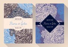 Tappningräddning mallen för datum- eller bröllopinbjudankort stock illustrationer