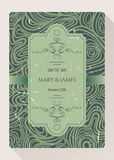 Tappningräddning mallen för datum- eller bröllopinbjudankort royaltyfri illustrationer