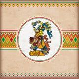 Tappningräkningsmexikanen smyckar emblemMaya vektor illustrationer