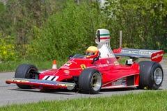 Tappningracebil Ferrari 312T från 1975 Arkivbilder
