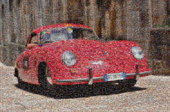 Tappningracerbil, mosaik Arkivfoto