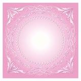 Tappningradialprydnad med bakgrund Royaltyfria Bilder
