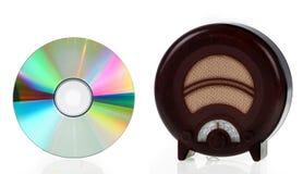 Tappningradio och CD Fotografering för Bildbyråer