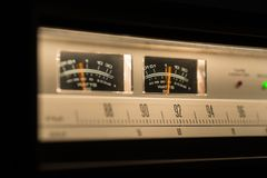 Tappningradioutrustning som visar VU-meter Royaltyfri Bild