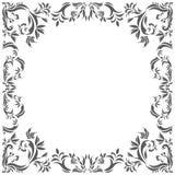 Tappningram med dekorativa blom- beståndsdelar Royaltyfri Fotografi