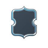 Tappningram med kopia-utrymme, heraldisk design, skydd vektor illustrationer