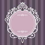 Tappningram på lilaband Royaltyfri Bild