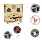 Tappningregistreringsapparat och magnetiskt band Royaltyfri Bild