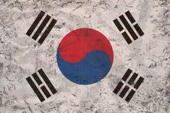 TappningRepubliken Korea Sydkorea flagga Royaltyfri Fotografi