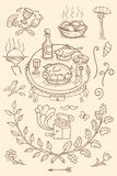 Tappningrestaurangbeståndsdelar royaltyfri bild