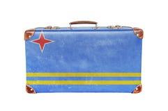 Tappningresväska med den Aruba flaggan Arkivfoto