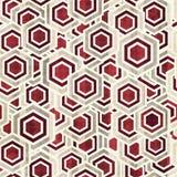 Tappningrhombusvit och rött färgar seamless Arkivbilder