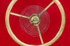 Tappningrovaspiralfjäder inställd i Midair royaltyfria foton