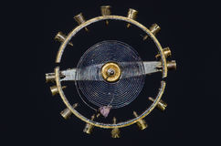 Tappningrovaspiralfjäder inställd i Midair royaltyfri foto