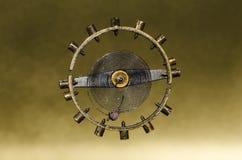 Tappningrovaspiralfjäder inställd i Midair royaltyfria bilder
