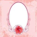 Tappningrundaram med krysantemumet Royaltyfria Bilder