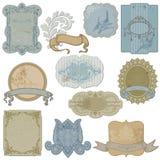 TappningSet av etiketter och etiketter royaltyfri illustrationer
