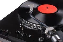 Tappningskivspelare med vinylrekordet Arkivbilder