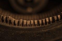 Tappningskrivmaskinstangenter Arkivfoto