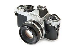TappningSLR kamera Royaltyfri Fotografi