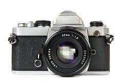 TappningSLR kamera Arkivfoto