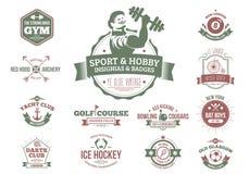Tappningsport och hobbyistemblem och gradbeteckningar vektor illustrationer