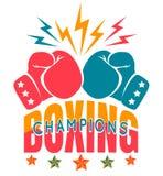 Tappningsportlogo för att boxas stock illustrationer