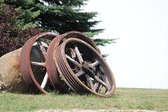 Tappningstålhjul Up tätt Arkivfoto