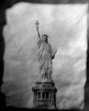 Tappningstaty av frihet Royaltyfri Bild