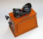Stereoscopetittare Fotografering för Bildbyråer