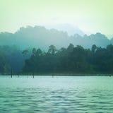 Tappningstil av berg sjön arkivfoton