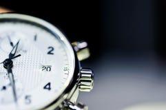 Tappningstil av lyxiga män klocka, begrepp av numret i klocka Royaltyfri Foto
