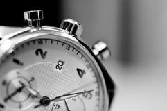 Tappningstil av lyxiga män klocka, begrepp av numret i klocka Royaltyfria Bilder