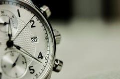 Tappningstil av lyxiga män klocka, begrepp av numret i klocka Royaltyfri Fotografi