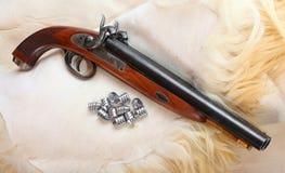 Tappningstor-tråkmåns pistol. Arkivbild