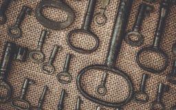 Tappningtangent på brunt tyg royaltyfri fotografi