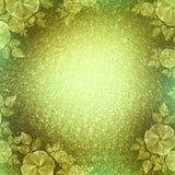 Tappningtapet, blom- karaktärsteckning, limefruktgräsplan Royaltyfria Bilder