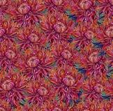 Tappningteckning av blommor Arkivfoton