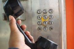 Tappningtelefon arkivfoton