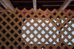 Tappningtextur av staketet i arabisk stil Arkivbild