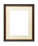 Tappningträbildram med matt papp Arkivbilder