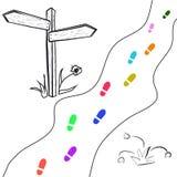 Tappningträskylt med momentvägen stock illustrationer