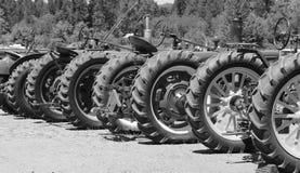 Tappningtraktorhjul royaltyfri foto