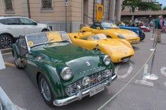 TappningTriumph bil Fotografering för Bildbyråer