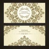 Tappninguppsättning av dekorativa gränser för mall och mönstrad bakgrund Elegant snöra åt bröllopinbjudandesignen, hälsningkortet royaltyfri illustrationer